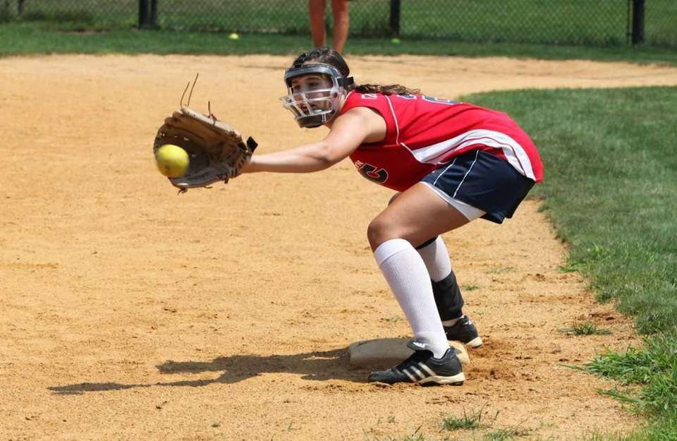 Danielle Fogarty plays third base for the Levittown