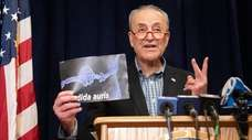 Senate Minority Leader Charles Schumer urges the Centers