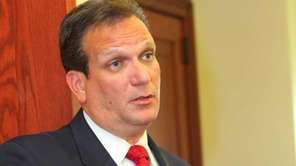 Nassau County Executive Edward Mangano announces the county