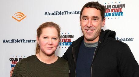 Amy Schumer and her husband, Chris Fischer, attend