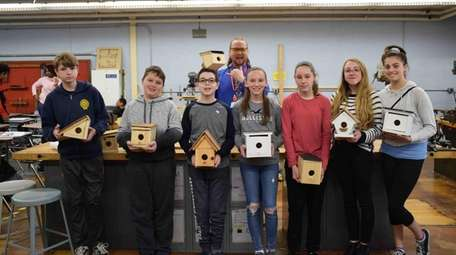 Eighth-graders at Bellport Middle School recently learned about