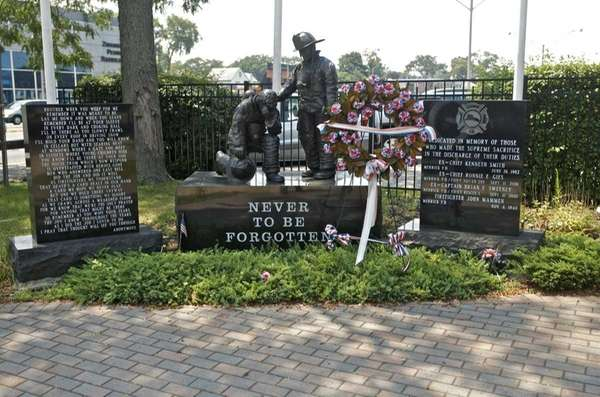"The ""Never to be Forgotten"" memorial, seen on"