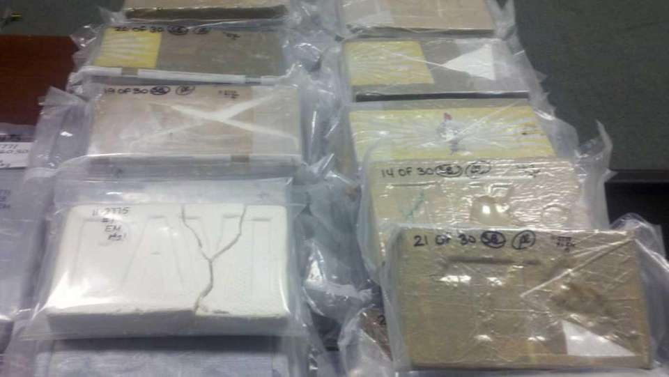 Some of the evidence seized in major cocaine