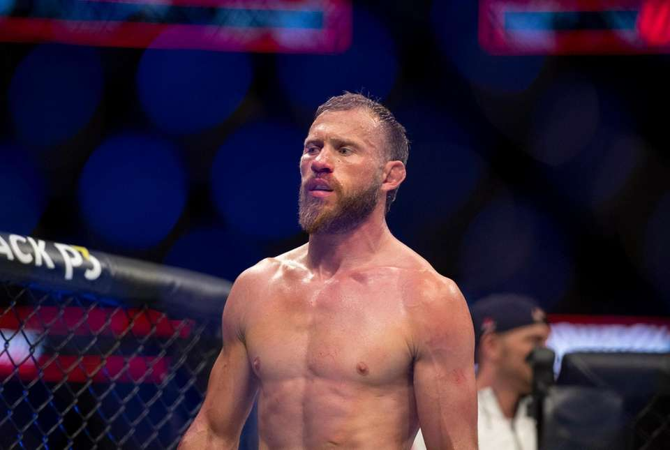Donald Cerrone walks in the octagon at the