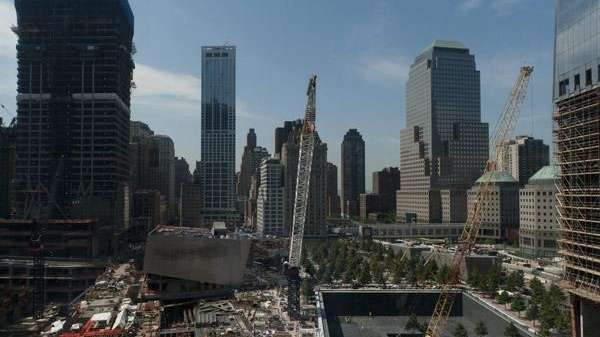 The World Trade Center site as seen from