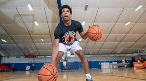 Jordan Riley of Brentwood practicing at Premier Basketball