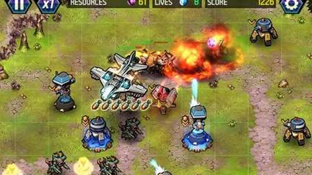 A screengrab from Tower Defense: Lost Earth.
