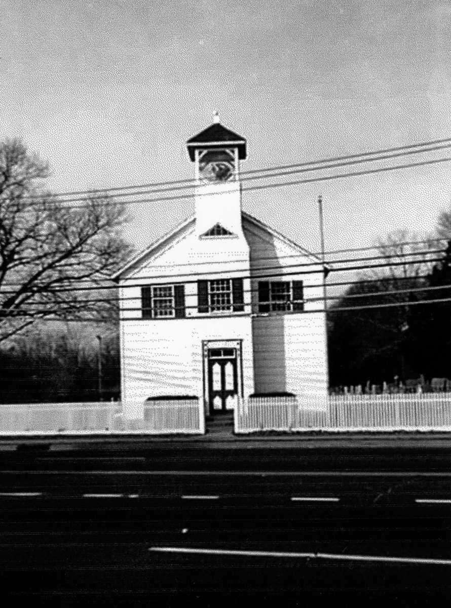 An undated photo of the First Congregational Church