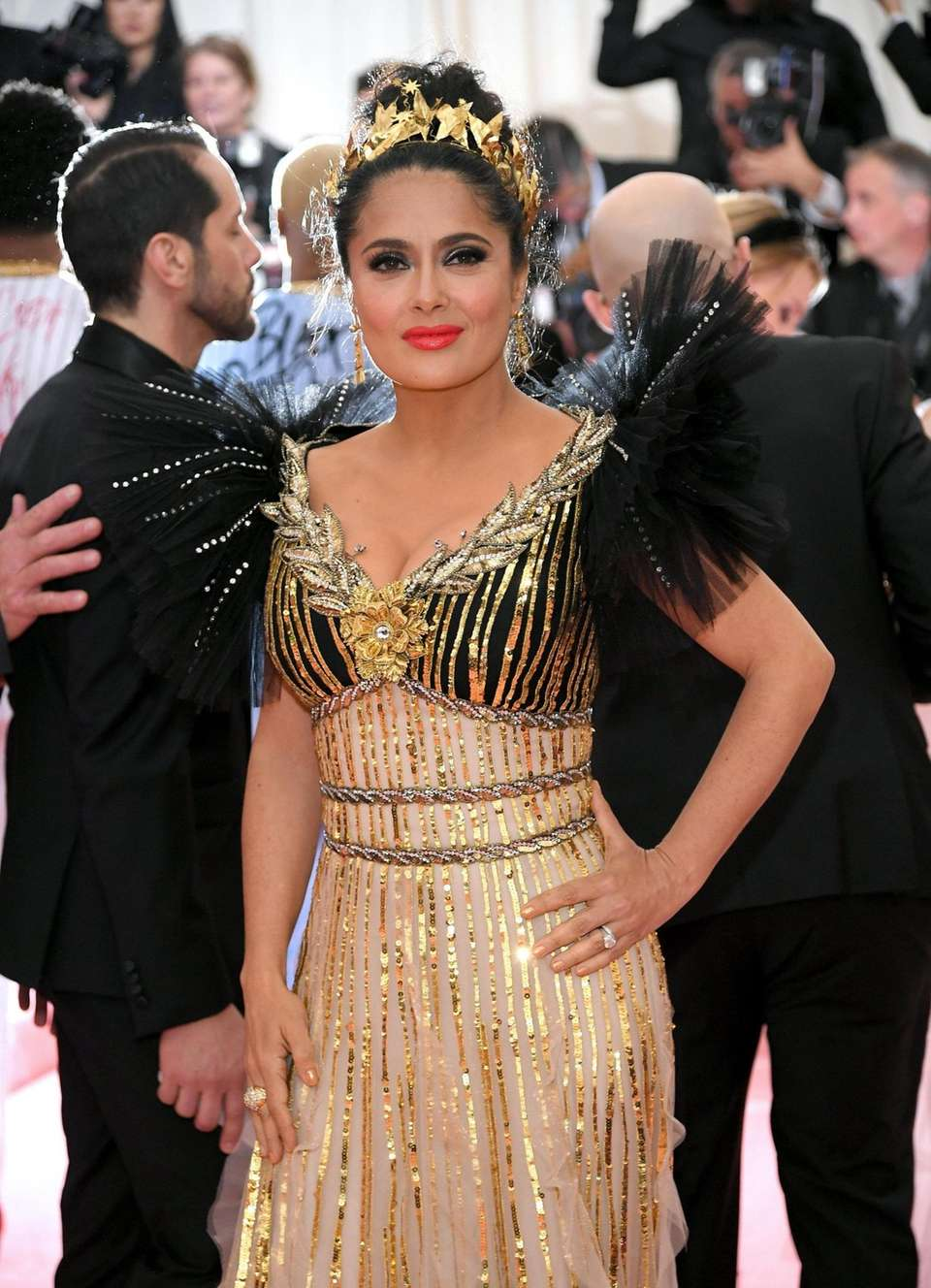 Actress Salma Hayek attends The 2019 Met Gala