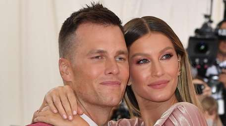 Gisele Bundchen and Tom Brady arrive for the