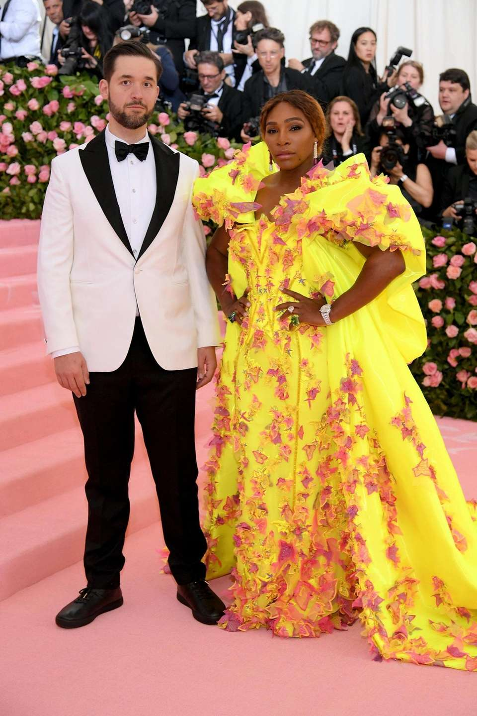 Serena Williams and Alexis Ohanian attend The 2019