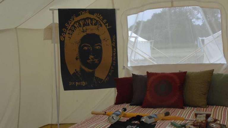Festival organizers furnished each glamping tent with a