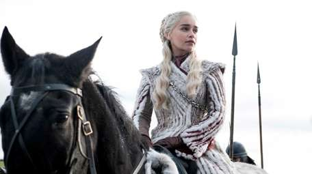 Emilia Clarke as Daenerys Targaryen in Season 8