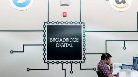Broadridge Financial, seen here on May 7, 2018,