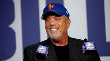 Billy Joel at a news conference on Feb.
