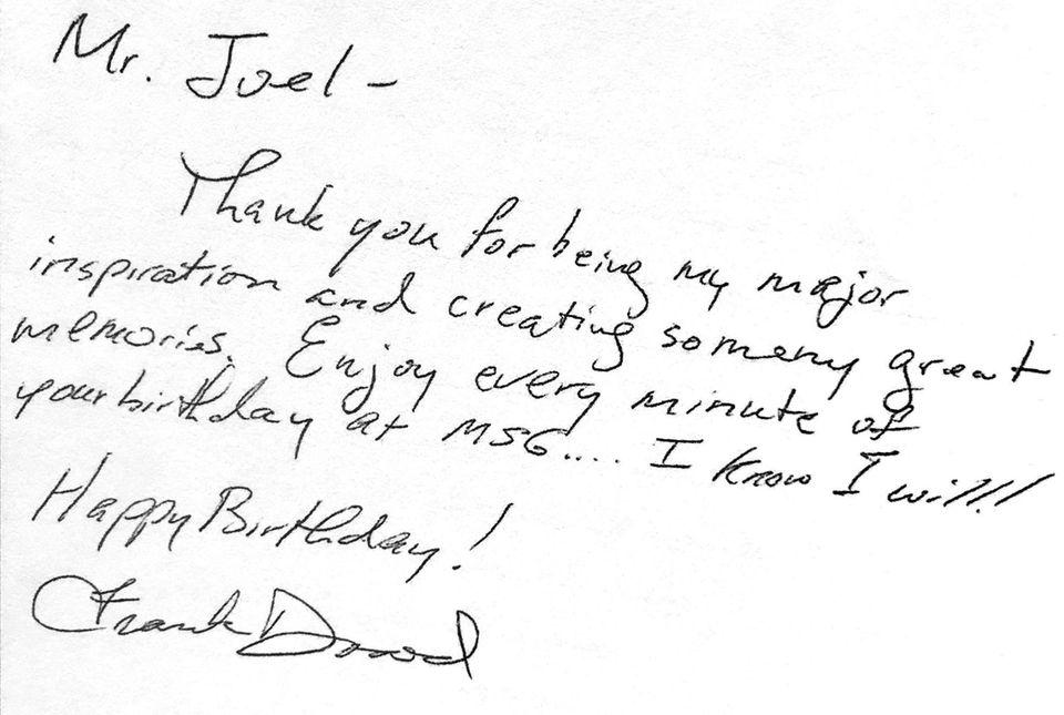 A handwritten note from Frank Dowd III, 41,