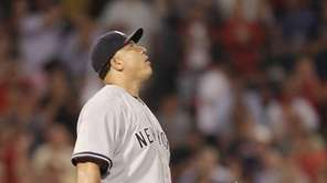 Bartolo Colon reacts after giving up a solo