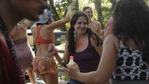 Anastacia Spada, 24, of Manhattan, dances in the