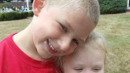 William Rivera, 6, and sister Alias Rivera, 2,