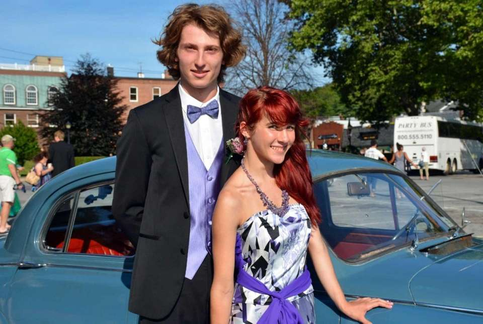 Eric Johnson, 18, escorts girlfriend Veronika Potylitsina, 18,