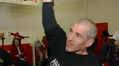Ken Leistner in 2003 lifting weights, a sport