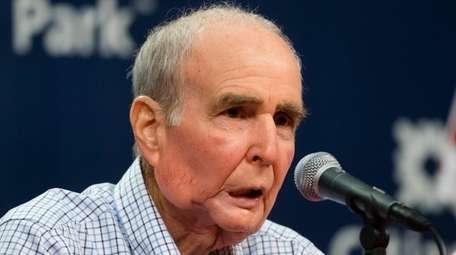 Phillies chairman David Montgomery speaks during a news