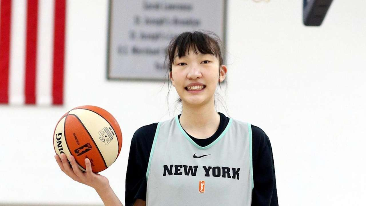 At 6-foot-9, Liberty rookie center Han Xu is the second
