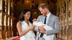 Britain's Prince Harry and Meghan, Duchess of Sussex,