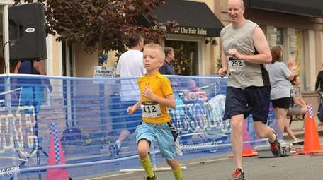 The one mile race is fun for young