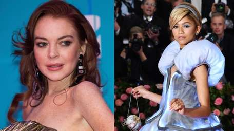 Actress Lindsay Lohan, left, criticized singer-actress Zendaya for
