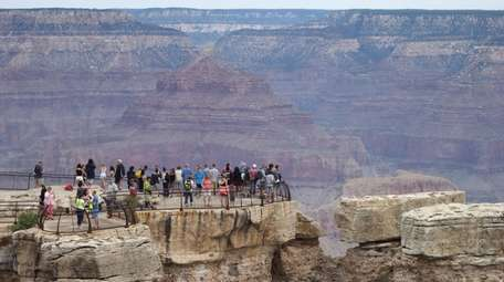 Visitors at the South Rim of the Grand