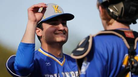 Frankie Roder of the Kellenberg Firebirds celebrates with