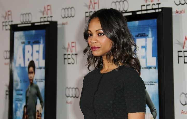 Zoe Saldana attends the screening of