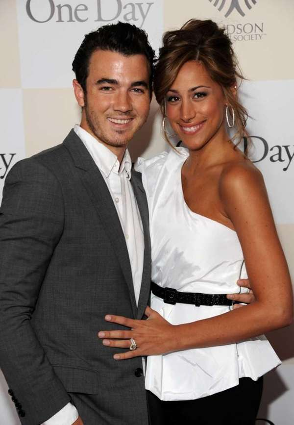 Kevin Jonas and his wife Danielle Deleasa attend