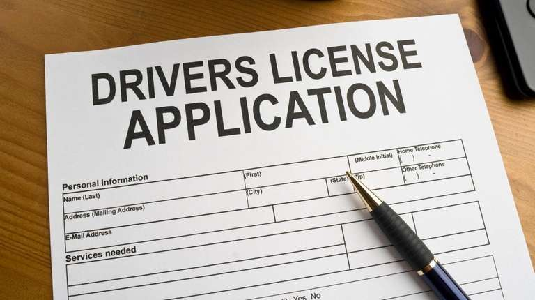 Application for a drivers license. Photo Credit: iStock.