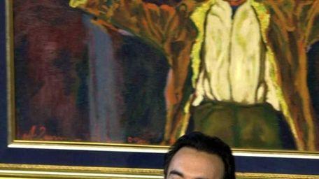 Francesco Quinn, right, son of legendary actor Anthony