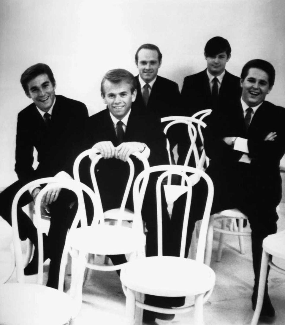 The Beach Boys shown from left: Dennis Wilson,