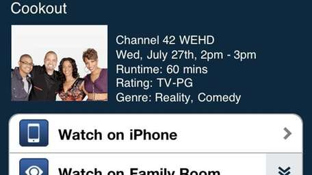 Cablevision's iPhone app