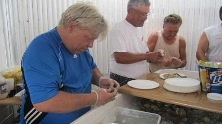 Hundreds of clams were served at Surf's Out