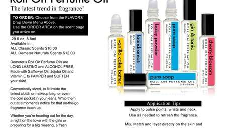 Demeter Fragrance Library roll-on scents.