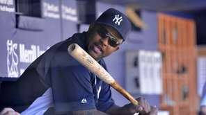 CC Sabathia in the dugout during a home