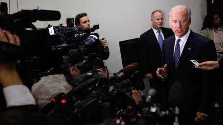 Vice President Joe Biden during budget talks earlier