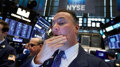 Trader Jonathan Corpina works on the floor of