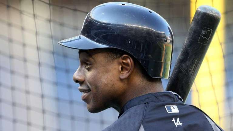 Curtis Granderson #14 of the New York Yankees