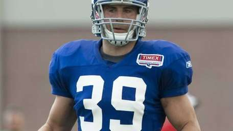 Tyler Sash #39 during practice at the Timex