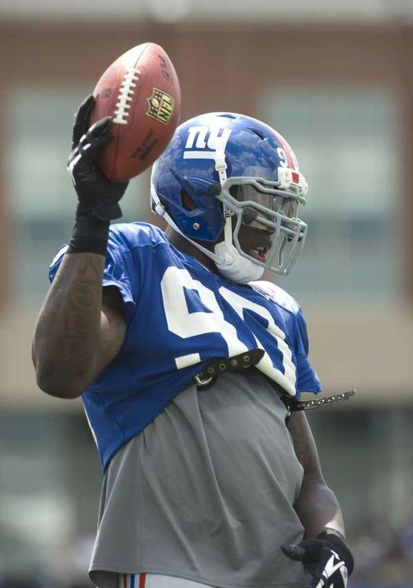 Jason Pierre-Paul during practice at the Timex Performance
