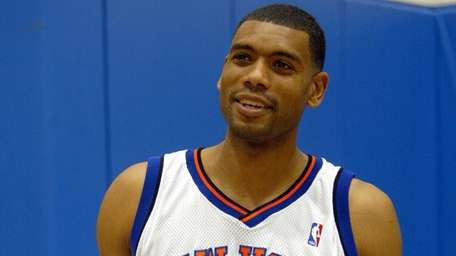 The Knicks' Allan Houston during media day on
