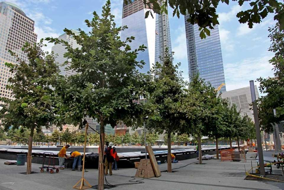 A file photo of the 9/11 Memorial Plaza