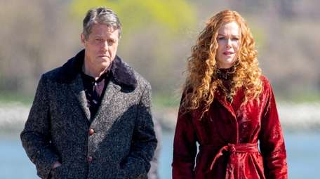 Hugh Grant and Nicole Kidman filming a scene