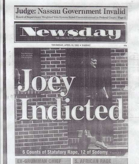 "Newsday cover from April 15, 1993 headlined ""Joey"